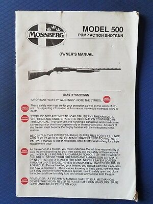mossberg 500 persuader owners manual
