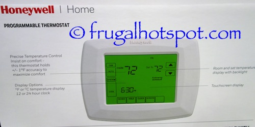 honeywell 5-1-1 day programmable thermostat with backlight manual