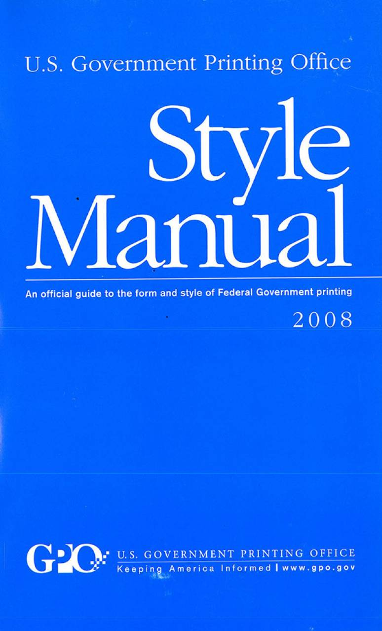 u.s or us chicago manual of style